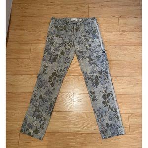Floral cargo pants